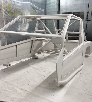 Line-X Landrover body