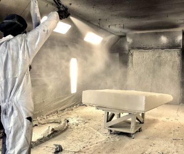 Line-X Scenery spraying