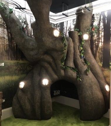 Line-X Tree sculpture mould