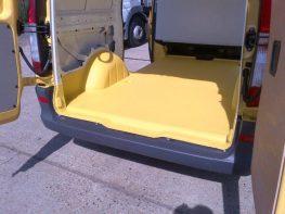 Line-X Van floor yellow