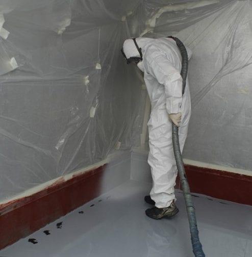 Line-X Site Spraying